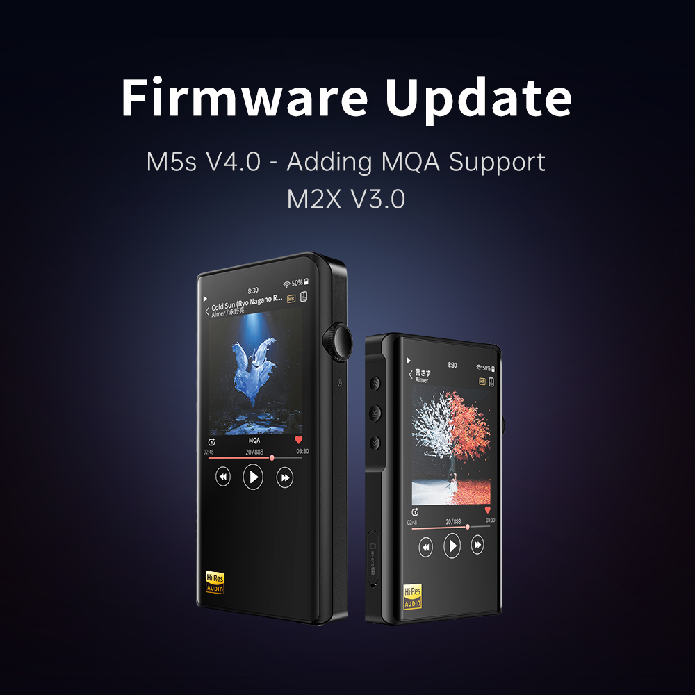 Shanling M2X & M5s Firmware update